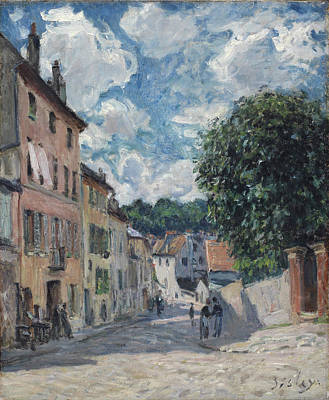 A Street, Possibly In Port-marly, 1876 Print by Alfred Sisley