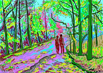 Life Study . Ganesha Digital Art - A Street Scene-2 by Anand Swaroop Manchiraju
