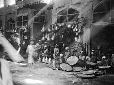 Baghdad Photograph - A Street Scene In Baghdad by American Colony