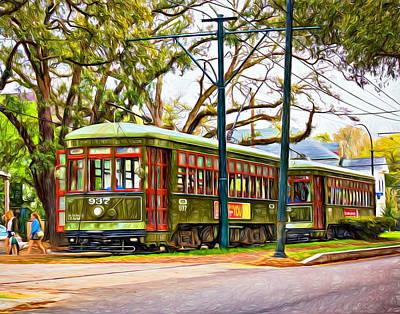 Streetcar Digital Art - A Streetcar Named St. Charles - Paint by Steve Harrington