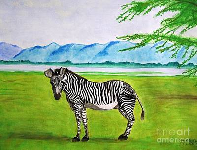 Painting - A Striped Chap by Denise Railey
