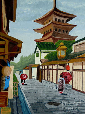 A Stroll In Old Kyoto Original by Anthony Dunphy