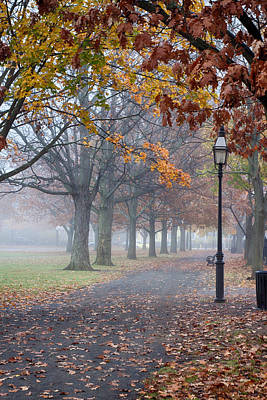 Photograph - A Stroll In Salem Fog by Jeff Folger