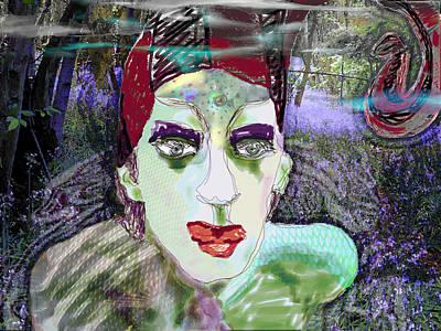Etheric Digital Art - A Stroll In The Woods by Maria Jesus Hernandez