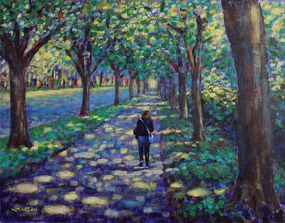 A Stroll On Griffith Avenue Dublin Original by John  Nolan