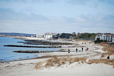 A Stroll On The Beach Art Print by Alan Holbrook