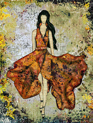 A Stroll Through Autumn Print by Janelle Nichol