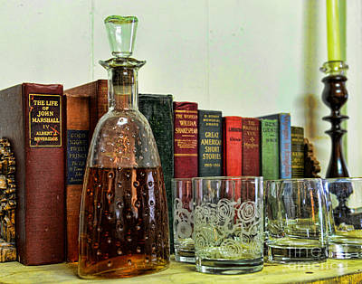 Candle Stick Photograph - A Strong Drink And A Good Book by Paul Ward