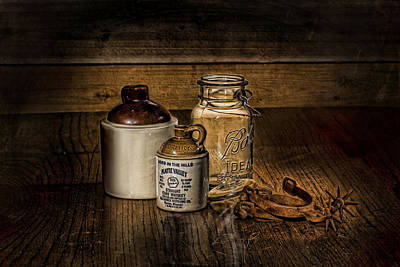 Old Crocks Photograph - A Study In Brown by Leah McDaniel