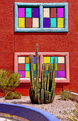 Tucson Digital Art - A Study In Color - 2 by Linda  Parker