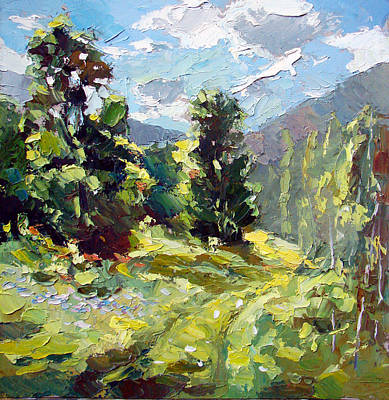 Art Print featuring the painting A Study In The Mountains by Dmitry Spiros
