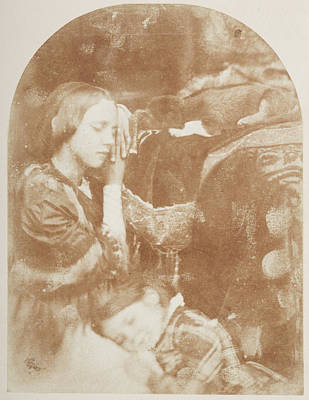 British Era Photograph - A Study Two Sleeping Girls by British Library