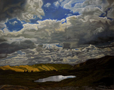 A Summer Day On Cottonwood Pass Print by Thu Nguyen