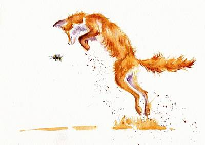 Fox Painting - A Summer Jumper by Debra Hall