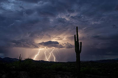 Lightning Bolt Photograph - A Summer Storm  by Saija  Lehtonen