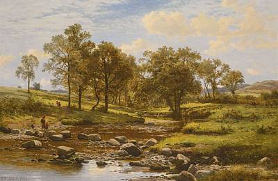 Benjamin Williams Leader Painting - A Summer Stream by Celestial Images