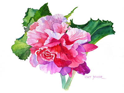 Begonia Garden Painting - A Summer's Begonia by Pat Yager