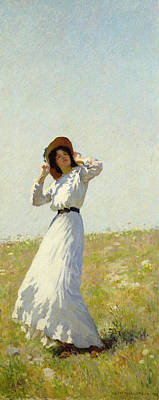 Windy Hill Painting - A Summe's Day by William Henry Margetson
