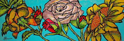 Painting - A Sun Among Roses by Guadalupe Herrera