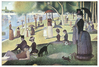Jatte Painting - A Sunday Afternoon On The Island Of La Grande Jatte by George-Pierre Seurat