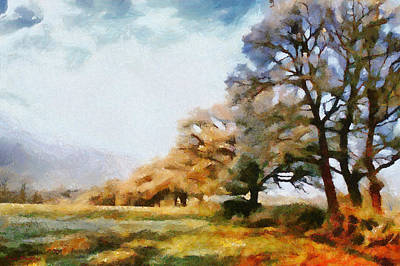 Painting - A Sunday Group Of Trees by Tyler Robbins