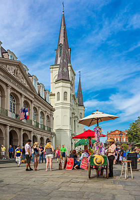 A Sunny Afternoon In Jackson Square Art Print by Steve Harrington