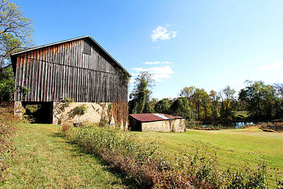 Photograph - A Sunny Day At The Old Barn by Trina  Ansel