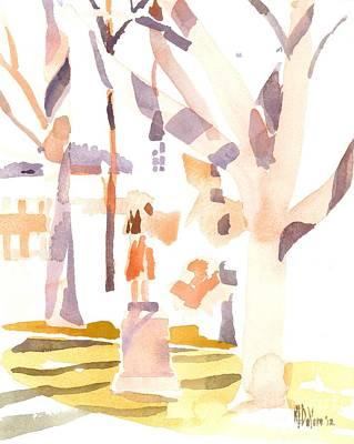 A Sunny Winters Day Original by Kip DeVore