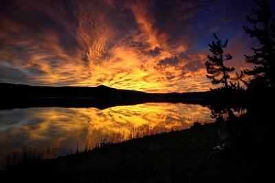 Photograph - A Sunrise Explosion by Rich Rauenzahn