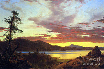 A Sunset By Frederick Edwin Church Art Print