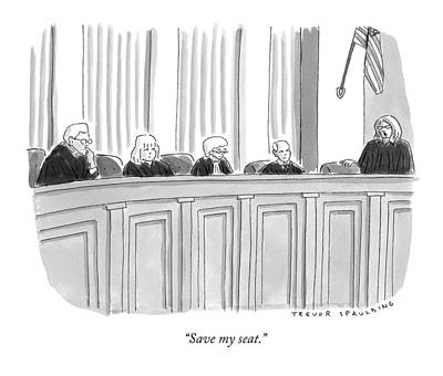 Seated Drawing - A Supreme Court Judge Gets by Trevor Spaulding