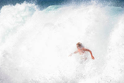 Photograph - A Surfer In White Water by John Orsbun