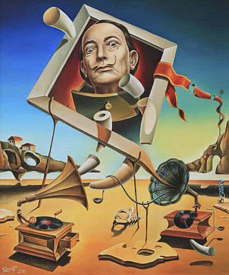 Magical Realism Painting - A Surreal Simulacrum Of Salvador Dali by Dragomir Minkov