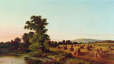 A Surrey Cornfield Art Print by Walter Williams