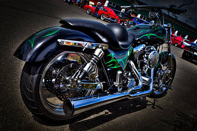 Harleys Photograph - A Sweet Ride by David Patterson