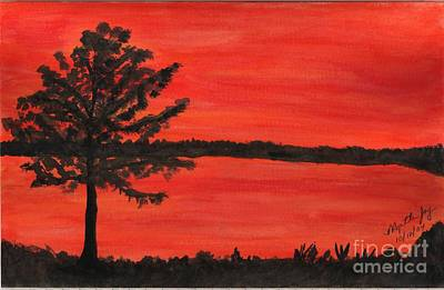 Landscapes Painting - A Sweet Sunset by Myrtle Joy