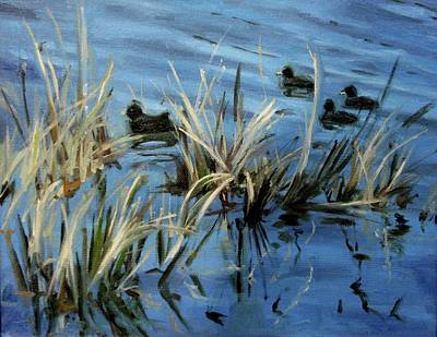Painting - A Swim Through The Reeds by Erin Rickelton