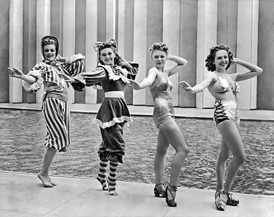 Photograph - A Swimwear Fashion Show by Underwood Archives