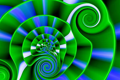 Swirling Digital Art - A Swirl Of Growing Green by Hakon Soreide