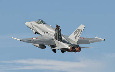 A Swiss Air Force Fa-18c During Tlp Art Print