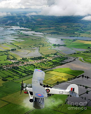 Art Print featuring the photograph A Swordfish Aircraft With The Royal Navy Historic Flight. by Paul Fearn
