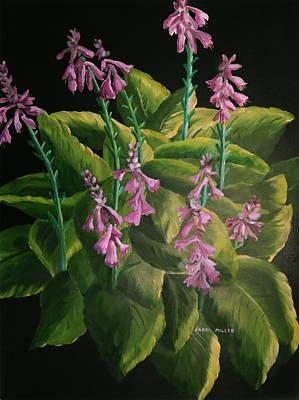 Painting - A Symphony Of Hostas by Carol L Miller