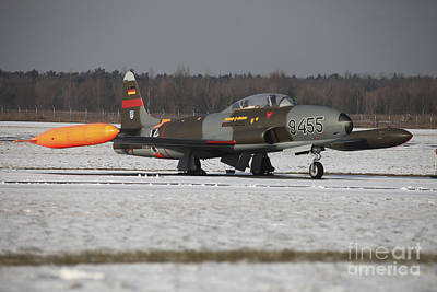 Jet Star Photograph - A T-33 Shooting Star Trainer Jet by Timm Ziegenthaler