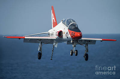Transportation Royalty-Free and Rights-Managed Images - A T-45c Goshawk Prepares To Land by Stocktrek Images