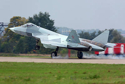 T-50 Photograph - A T-50 Pak-fa Fifth Generation Russian by Artyom Anikeev