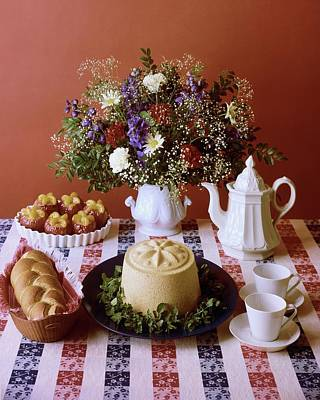 A Table Of Pastries Art Print