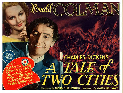 A Tale Of Two Cities, Us Lobbycard Art Print by Everett