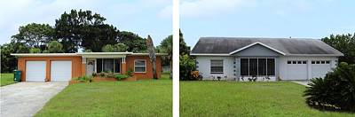 Photograph - A Tale Of Two Houses by R B Harper
