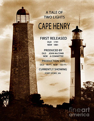 Cape Henry Lighthouse Photograph - A Tale Of Two Lights by Skip Willits