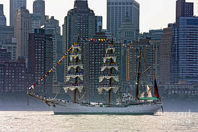 A Tall Ship Participating In Fleet Week Events In New York City  Art Print by Nishanth Gopinathan